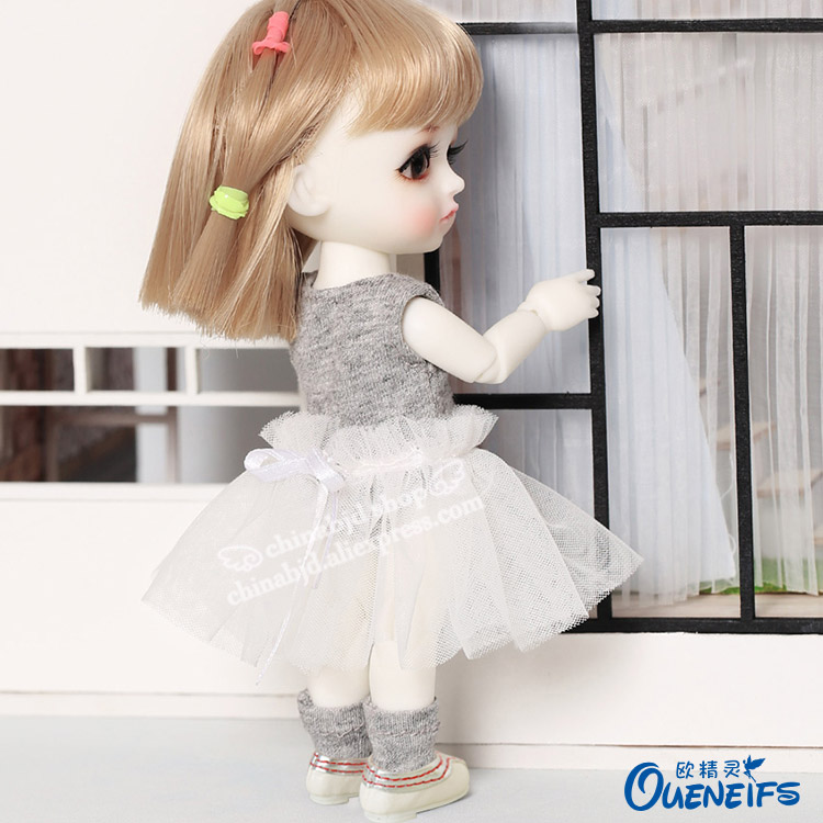 BJD SD Doll Clothes 1/8 Simple All-match Conjoined Suit Skirt For Lati Mong Ming YF8 To 153 Doll Accessories  Luodoll