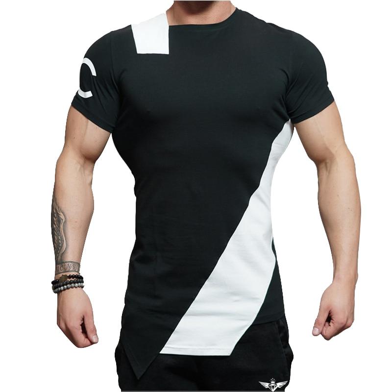 2018 Gyms ingenieros de carrocería verano el estadio Shark Stringer T-shirt hombre Bodybuilding y Fitness delito manga corta Camiseta