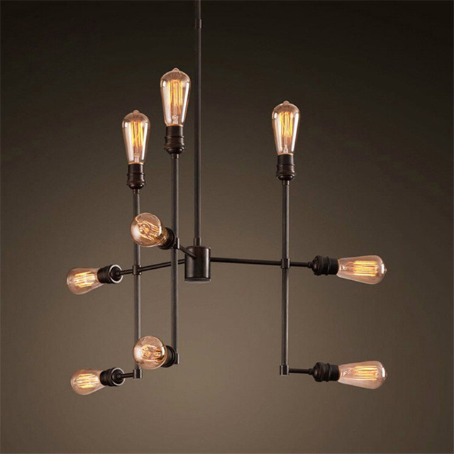 Retro Loft Pendant Lights With Edison Lamps Vintage Hanging For Cafe Bar
