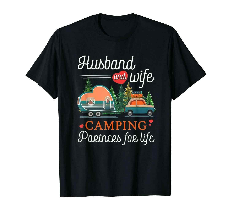 Забавная Черная футболка для отдыха для мужчин и жены