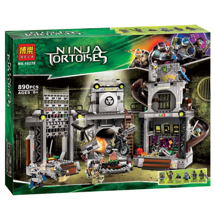2016 Bela 10278 Teenage Mutant Ninja Turtles Lair Invasion Building Blocks Mini Figure movie Kid Toy