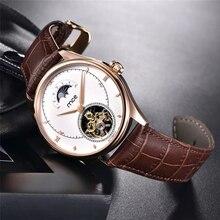 MCE Marca Homens Relógios Turbilhão Relógio Mecânico Automático Relógio Do Esporte de Couro Business Casual Retro Relógio de Pulso Relojes Hombre