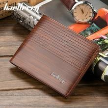 high quality Men Wallet PU Leather Casual Wallet for Men Short Wallet Standard Wallets Card Holders Vintage Man Purse