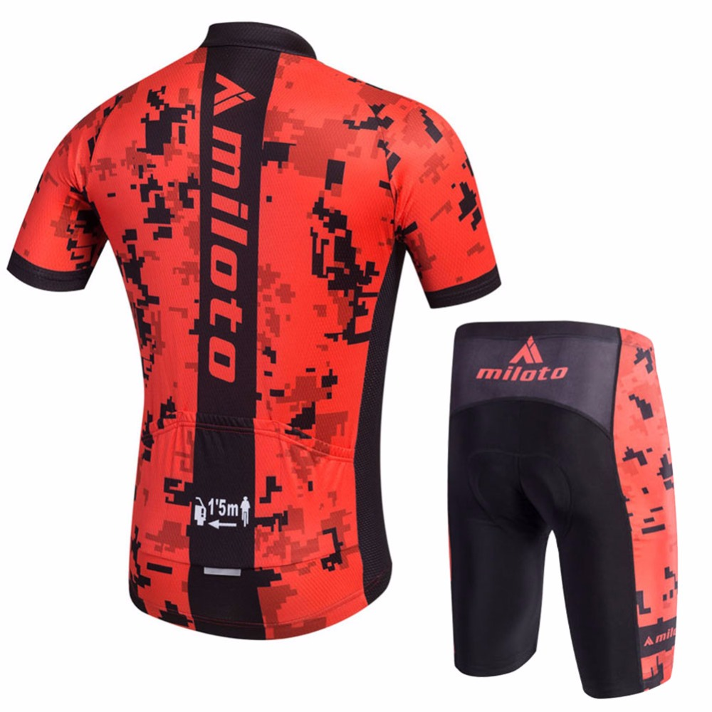Men s Vintage Cycling Jersey   Compression Mountai Bike Shorts Set Short  Sleeve Reflective Cycling Clothing Kit XS 5XL -in Cycling Sets from Sports  ... a033a647e