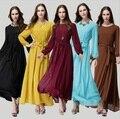 Мода 2015 Случайные Элегантные Дамы Тонкий Тонкий Плюс Размер Исламская Одежда Мусульманская Абая Длиной Макси Платье Женщины Шифон платье 143K1
