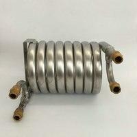 Противоточный сусла чиллер, Нержавеющаясталь 304, оборудование для пивоварения сусла охлаждение катушки для доморощенного 4X1/2 наружная ре