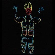 Оптовая продажа 4 Наборы для ухода за кожей с подсветкой el Провода робот костюм набор для DJ DS подсветкой Костюмы для бальных танцев костюм для танцев Костюмы для сцены ночной клуб