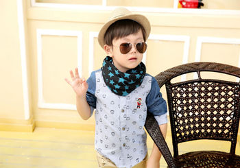 Hot 6 colors Kids 40* 40 Cotton Scarves ...