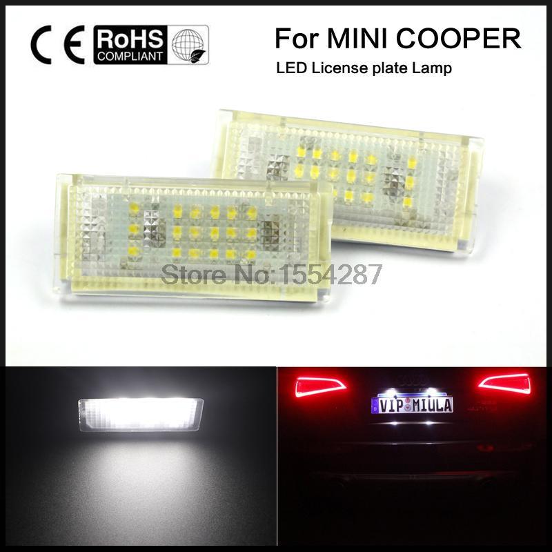 2pcs Good Super White License Plate Lights Lamp for BMW Mini Cooper R50 R52 R53 x white canbus 18 smd license plate lights lamps assembly for minicooper r50 r52 r53 pack of 2pcs