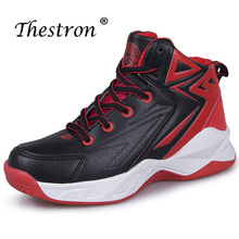 Thestron Children Boys Sport Shoes Red Black School Comfortable Youth Non-Slip Walking Sneakers Kids