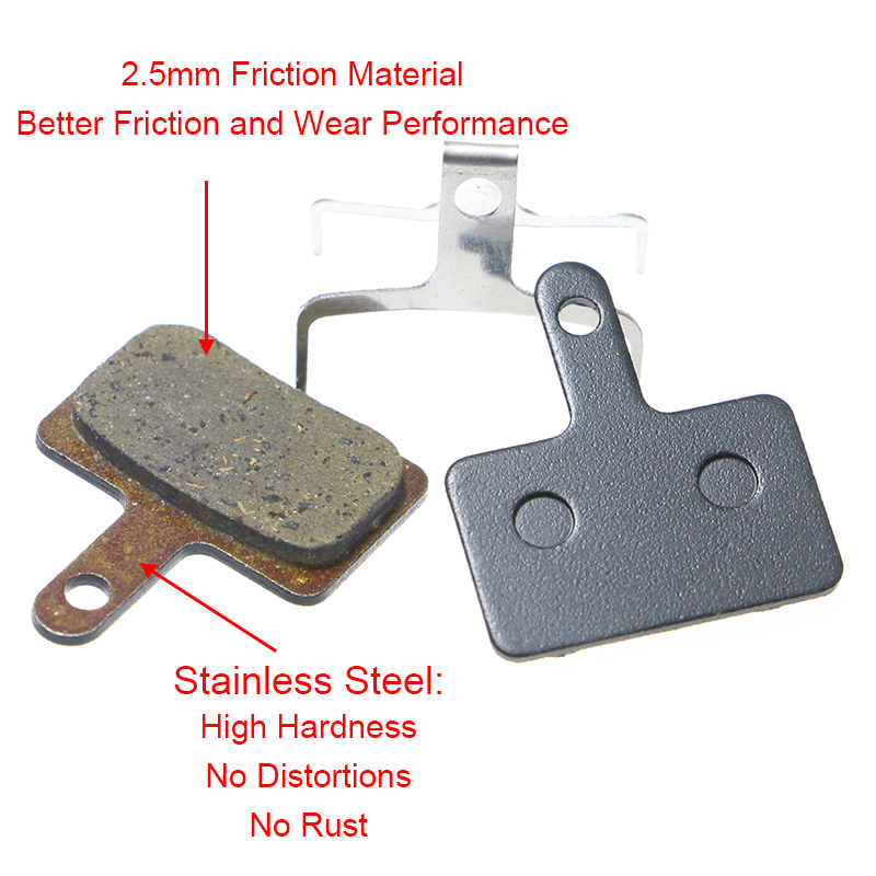Дискови спирачни накладки за Shimano B01S - Колоездене - Снимка 2