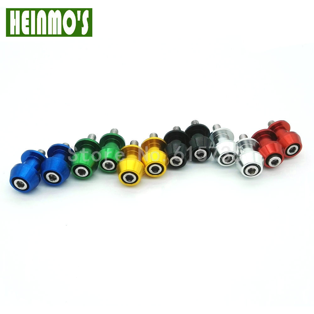 Heinmo Universal Motorcycle Swingarm Swing Arm Spools Sliders Stand Bobbins Black 10mm