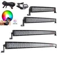 5D RGB Led Light Bar Bluetooth App Control 16 Million Color Changing Curved Light Bar Led 52 300W 22 120w 42 240w 32 180w