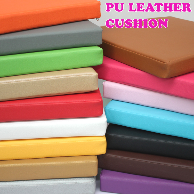 New Synthetic Leather Cushion  Comfortable Office Car Seat Cushion Foam Cushion Chair pads Foam Cushion