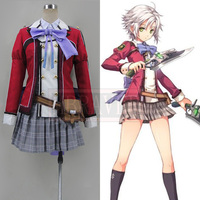 New Custom Made Japanese Movie The Legend of Heroes: Sen no Kiseki Fei Claussell Cosplay Costume High Quality