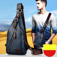 Men Summer Messenger Bag Designer Leather Chest Bag Handbag Fashion Outdoor Travel Shoulder Bag Casual Mini