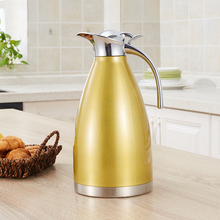 Чайники из нержавеющей стали 1,5 л Чайники для воды Вакуумная изоляция Термальные горшки Чайные чайники Кофейная горшка -TZ