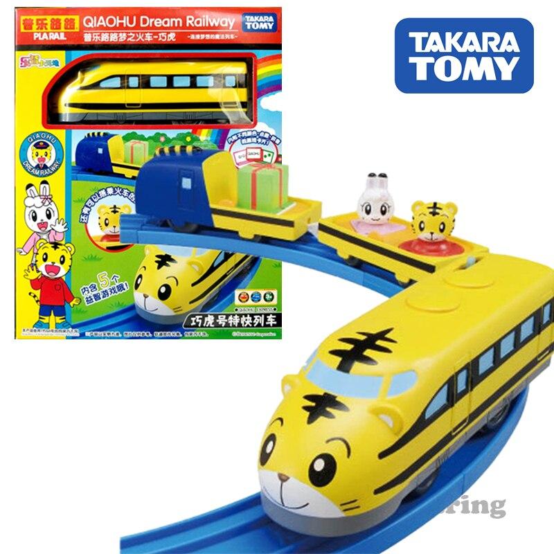 TAKARA TOMY tomica Plarail electric train model kit Shimajiro rail way baby toys diecast miniature kids dolls funny playting