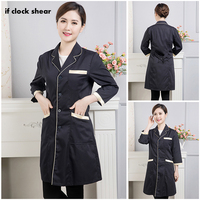 Ladies Medical Robe Lab Coat Hospital Doctor Slim Nurse Uniform Multicolour beauty salon uniform scrubs medical uniforms women