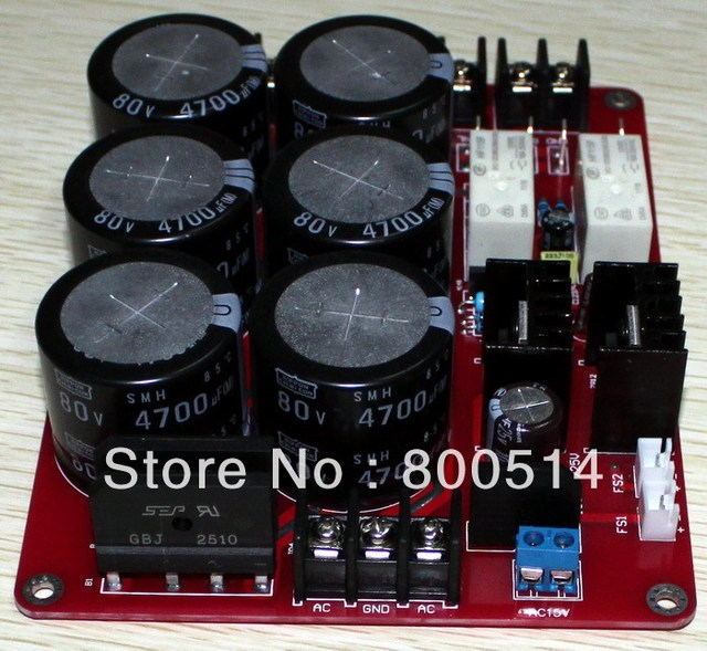 6*4700uf / 80V Power supply board with speaker protection  --#0508-12