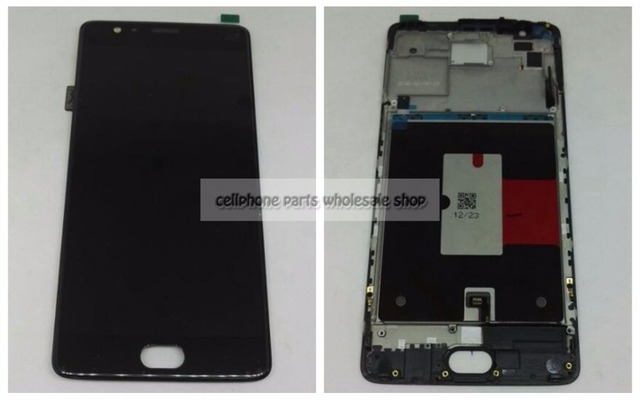Amoled For oneplus Three 3 A3000 A3003 Lcd Display+Touch Panel Digitizer Glass Frame Assembly Parts Replacement EU version