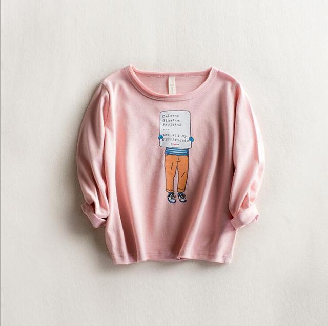Bebê meninos primavera t-shirt o-pescoço de algodão de manga longa ocasional impresso t shirt crianças novas roupas da moda crianças roupas asseclas