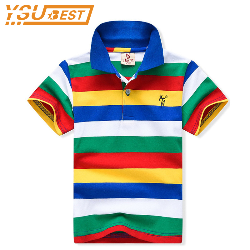New 2018 Summer 1-12Yrs Baby Boys Top Tees 100%Cotton Children T shirts Striped Brand Boys T shirt For Kids Fashion Boys Clothes boys cotton clothes sets for children summer outfit kids camouflage t shirts