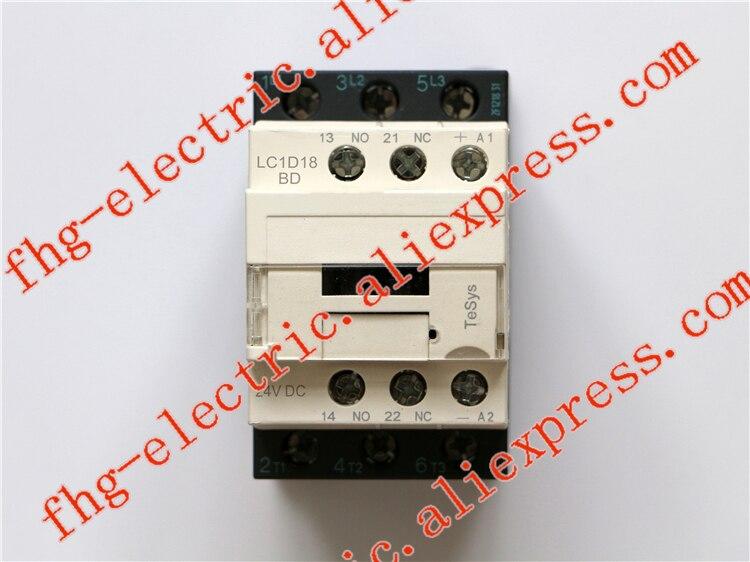 TeSys D Contactor 3P 18A LC1D18 LC1D18BD LC1-D18BD 24V DC 24VDC