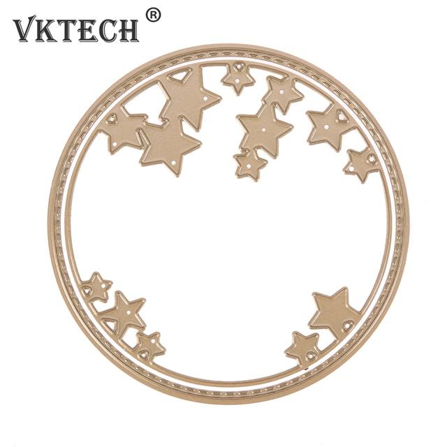 2pcs Gold Circle Stars Frames Metal Cutting Dies Stencils for DIY ...
