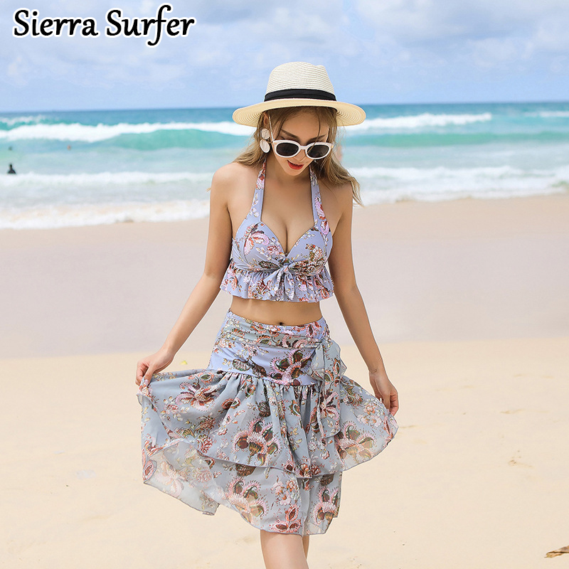Plus Size Bikini Xxl Retro Swim Wear Cheap Sexy Woman Swimsuit 2018 New Songs Bathing Suit Breasts Three Piece Biquine Biquines 2018 direct selling springs swimming clothes bikini three pieces of small breasts the steel sexy shading thin korean swimsuit