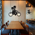 Modern Creative Personality Restaurant Bar Clothing Store Simple Bicycle Iron ceiling lamp Pendant Lamp pendant lamp cord