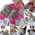 Hot New Cartoon hedgehog Mittens 7 color girls fashion novelty in winter Warm  Knitted gloves woman's cotton gloves W1