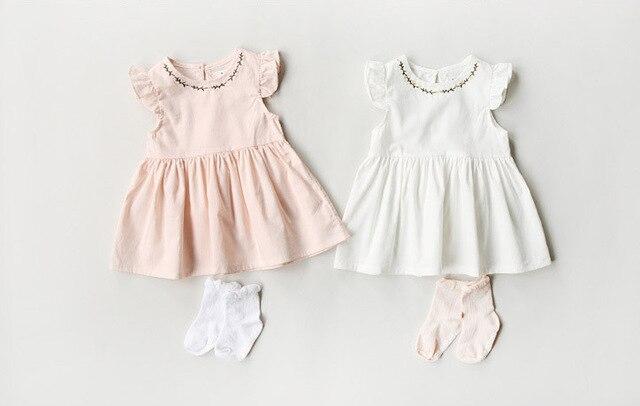 e41108a951b [Elf Verhaal] Mouwloze Meisjes nieuwe zomer baby kinderen bloemen jurk kids  groothandel jurk kleding