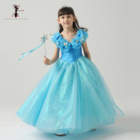Kung Fu Ant 2017 New Arrival Bow Ball Gown Full Party Cartoon Princess Dress Summer For