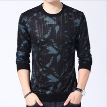 YAXITE Autumn Winter Mens T Shirts Print Black Brand Clothing For Man s Long Sleeve T