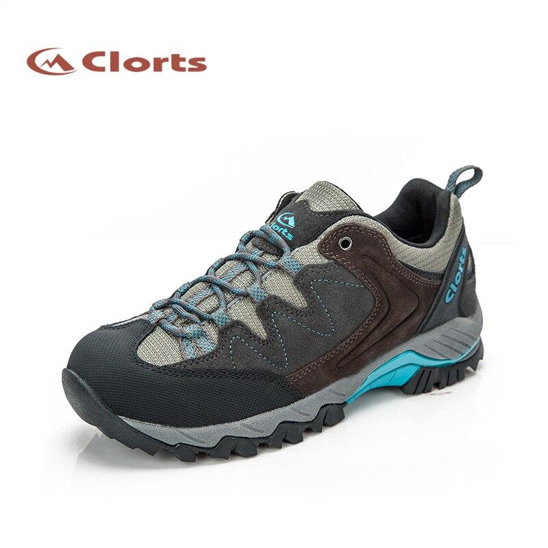 ФОТО 2017 Clorts Women Hiking Shoes Walking Shoes Waterproof Outdoor Shoes Cow Suede For Women Free Shipping HKL-806G/H/J
