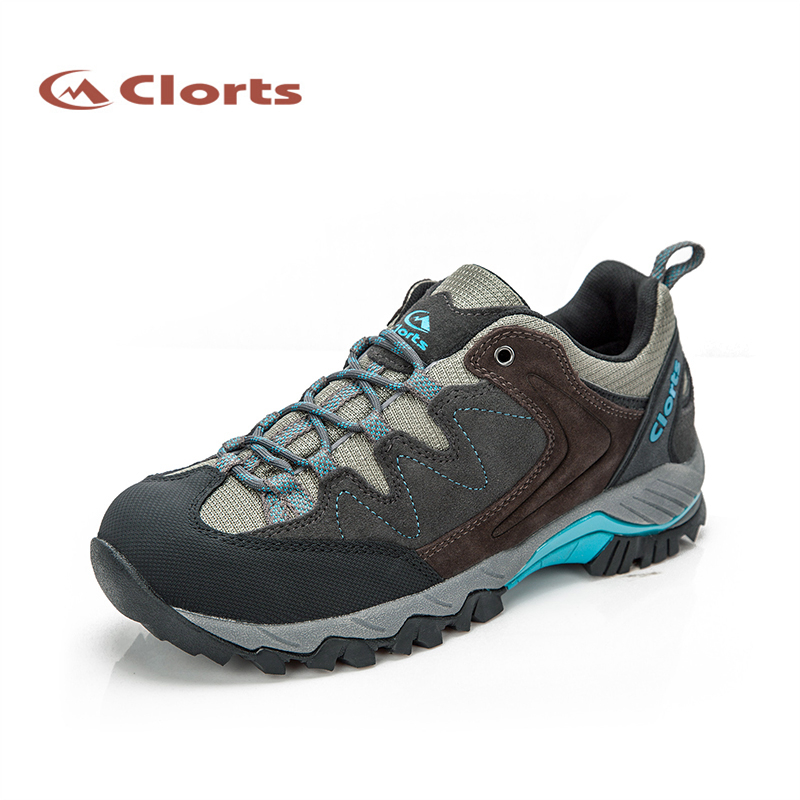 2017 Clorts Women Hiking Shoes Walking Sports Shoes Waterproof Outdoor Shoes Cow Suede For Women Free Shipping HKL-806G/H/J 2017 clorts mens outdoor walking shoes breathable lightweight sports shoes cow suede for men blue brown free shipping 3g020a d