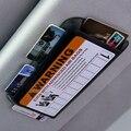 Número de Telefone Do Carro Clipe Viseira Organizador Universal de Estacionamento temporário de Alta-velocidade IC Cartão Clipe Titular do Cartão de Estacionamento