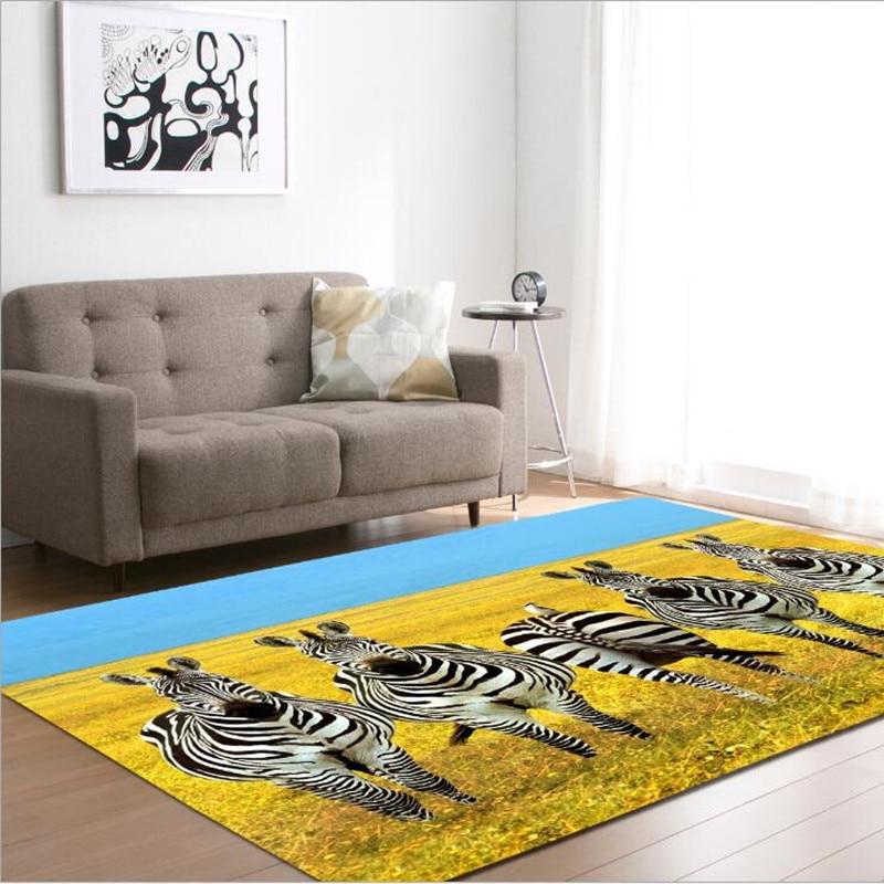 Mignon zèbre impression tapis pour salon jouer tapis bébé chambre jeu ramper tapis tapis enfant salle de bain tapis antidérapant chambre d'enfants