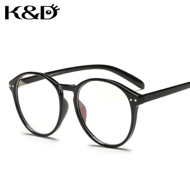 e11d473622c K D Optical Frame Eyewear Glasses Solid Floral Round Circle Shape Computer Man  Woman Unisex Fashion Retro