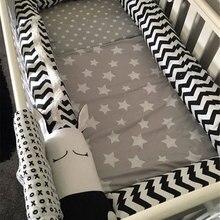 Черно-белый детский бампер с рисунком зебры, детские постельные принадлежности, бамперы для кроватки, бамперы для кроватки, бамперы для новорожденных, хлопковая защита для кроватки с принтом для младенцев