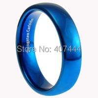 Free Shipping USA UK Canada Russia Brazil Hot Sales 6MM Shiny Blue Polished Domed Women Men