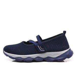 Image 3 - STQ 2020 קיץ נשים שטוח פלטפורמת נעלי נשים לנשימה מזדמנים סניקרס נעליים להחליק על שטוח של נעלי נשים 929