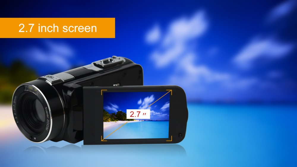 """FHD 1080P Digital Video Camera fotografica Camcorder MP 3"""" Screen External Battery Support SD Card with HDMI Output filmadora 4"""