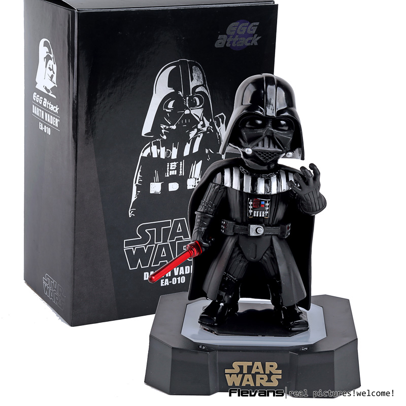 Egg Attack Star Wars Darth Vader PVC Action Figure Collectible Model Toy with LED Light & Sound 7 18cm SWFG100 new 1pc darth vader 10cm baby kids childs action figure toy loose xmas