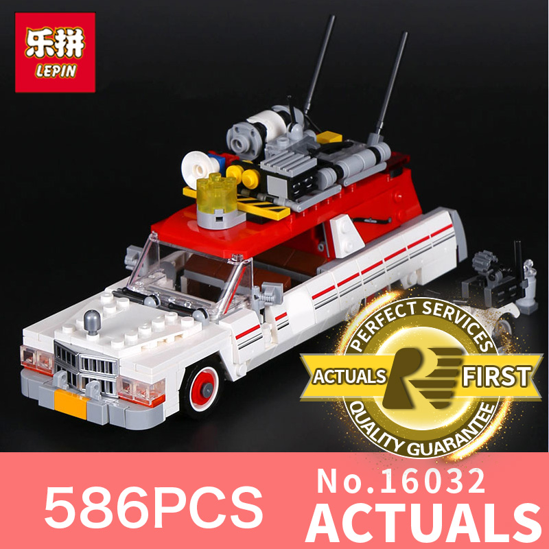 586Pcs Lepin 16032 New Genuine Movie Series The Ghost  Set Children Educational Building Blocks Bricks Toys LegoINGlys 75828 lepin 16032 586pcs new genuine movie series the ghostbusters ecto 1