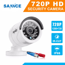 SANNCE Analog AHD Camera PAL Outdoor 720P Infrared Waterproof IR cut Bullet Camera H.264 HD DVR Security CCTV Surveillance video