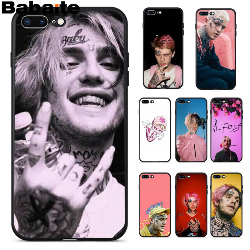 Babaite Lil Peep Lil Bo Peep Pattern TPU Soft Phone Accessories Cover Case for Apple iPhone 8 7 6 6S Plus X XS MAX 5 5S SE XR