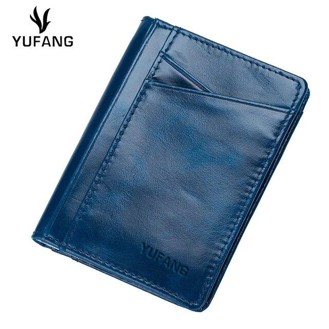 3b546b27e71 Yufang lederen kaarthouder vrouwelijke glad leer card case vrouwen vintage  leisure dames portemonnee trendy card pocket