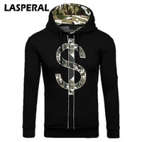 LASPERAL 2017 Autumn Winter New Mens Sweatshirt Male Camouflage Printed S Sign Designed Hooded Pullovers Casual